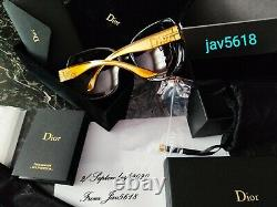 CHRISTIAN DIOR SUNGLASSES GLOSSY SOLID GOLD 18 Kt MASTERPIECE 500, RAREST, NEW
