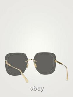 CHRISTIAN DIOR Women's UltraDior SU Square Grey & Gold Sunglasses SU B0A0
