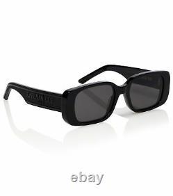 CHRISTIAN DIOR Women's Wildior S2U Black Rectangular Sunglasses