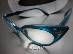 CLASSIC VINTAGE RETRO CAT EYE Style Clear Lens EYE GLASSES Teal Fashion Frame
