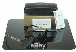 CLASSY NEW Genuine VERSACE Rock Icons Vani Black Gold Sunglasses VE 4307 GB1/87