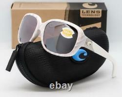 COSTA DEL MAR GANNET Sunglasses Matte Seashell / Silver Mirror 580P lens Womens