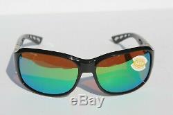 COSTA DEL MAR Inlet 580P POLARIZED Sunglasses Womens Black/Green Mirror NEW