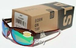 COSTA DEL MAR Inlet 580P POLARIZED Sunglasses Womens Pomegranate Fade/Green NEW