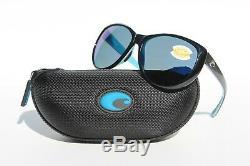 COSTA DEL MAR La Mar 580P POLARIZED Sunglasses Womens Black White Aqua/Blue NEW