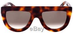 Celine Andrea Women's Havana Shield Sunglasses 41398S 005L Made In Italy