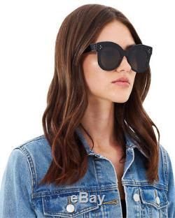 Celine CL41443/S Chris Sunglasses Oversized Round Black