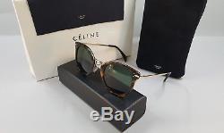 Celine CL 41373/S ANT 85 Gold & Havana Women's Sunglasses