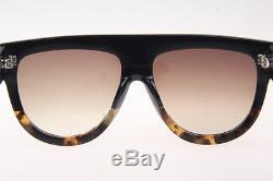 Celine Shadow CL41026 Women Sunglasses Black/Tortoise worn by Kim Kardashian
