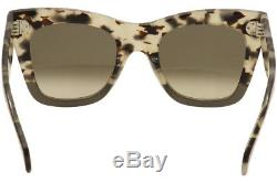 Celine Women's CL 41090S 41090/S VNO/Z3 Havana/Grey Fashion Sunglasses 50mm