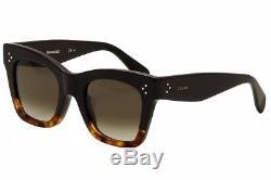 Celine Women's CL 41098FS 41098/F/S FU5/Z3 Black/Tortoise/Havana Sunglasses 50mm