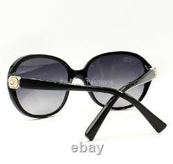 Chanel 5285 760/S8 Sunglasses Polished Black Silver CC Logo Gray Polarized