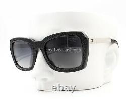 Chanel 6047Q 501/S8 Stingray Sunglasses Polished Black Gray Polarized
