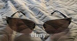 Chanel Vintage Beautiful Dark Brown Sunglasses W Case