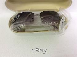 Chloe Sunglasses Heart Bling CL2262 01 Light Gold New Sun Glasses