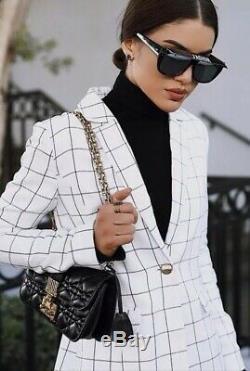 Christian DIOR CLUB 2 807/IR Black JADIOR Visor Women Sunglasses Authentic New