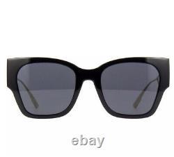 Christian Dior 30Montaigne 1 0807/2K Black Gold Gray Lens Women Sunglasses Large