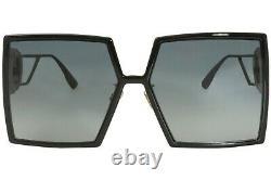 Christian Dior 30Montaigne 807/1I Sunglasses Women's Black/Grey Lens Square 58mm