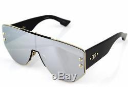 Christian Dior Addict 1 Dioraddict1 RHL/OT Gold Black Shield Mirror Sunglasses