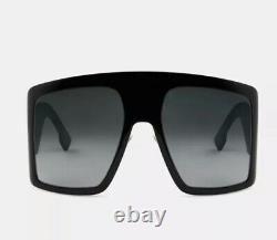 Christian Dior DiorSoLight SoLight1 807 Black Grey Gradient Sunglasses Oversized