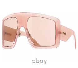 Christian Dior DiorSoLight SoLight 1 FWM/HO Nude Pink Brown Women Sunglasses XL