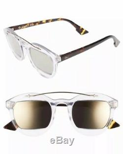 Christian Dior Mania 1 LWP/JO Crystal Havana Sunglasses Grey Gold Mirror Lens