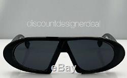 Christian Dior Oblique Sunglasses 8072K Black Frame Gray Lenses Brand New