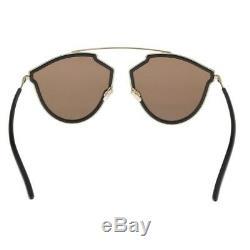 Christian Dior So Real Rise 2M2/SQ Black Gold Mirror Women Authentic Sunglasses