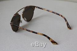 Christian Dior So Real Rjkeb Brown And Blonde Havana Aviator Sunglasses