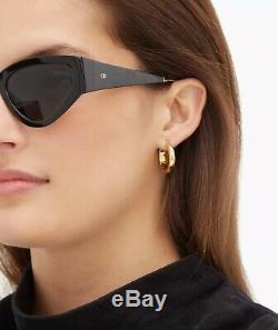 Christian Dior Sunglasses Catstyledior 1 Black Gold Grey Lens 807 Women Catstyle
