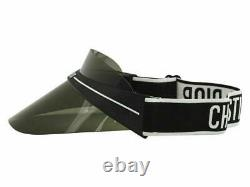 Christian Dior Women's DiorClub1 Club1 0H3 Black/White Adjustable Grey Visor Hat
