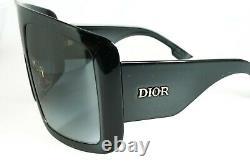 Christian Dior Women's DiorSoLight1 8079O Black Sunglasses Gray Gradient 60mm