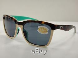 Costa Del Mar ANA Women's Polarized Sunglasses Gray 580P Lens ANA105 OGP NEW