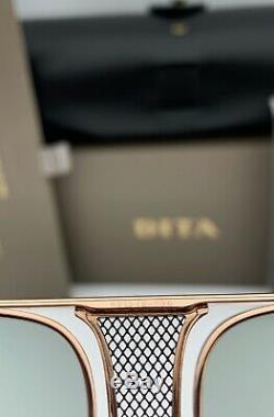 DITA DECADE TWO Aviator Sunglasses DRX-2082 Rose Gold Frame Light Gray Lens 62