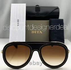 DITA ENDURANCE 88 Sunglasses DTS107-55-01 Black Gold Frame Brown Gradient Lens