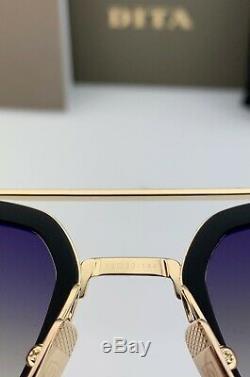 DITA FLIGHT 006 Sunglasses Gold Black Frame Gray Gradient Lens 7806-B-BLK-GLD-52