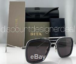 DITA FLIGHT 006 Sunglasses Silver Gray Frame Dark Gray Lens 7806-G-SMK-PLD-52