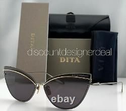 DITA INTERWEAVER Sunglasses DTS527-63-03 Black Yellow Gold Frame Gray Lenses NEW