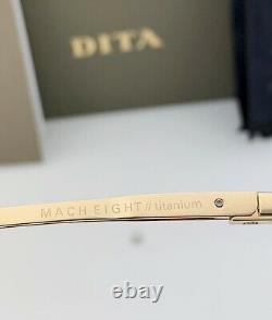 DITA MACH EIGHT Sunglasses DTS400-A-02 Crystal Gray Pale Gold Gray Gradient NEW