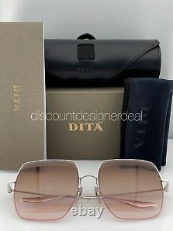DITA METAMAT Sunglasses DTS526-59-01 Silver Frame Brown Gradient Lenses 59mm NEW