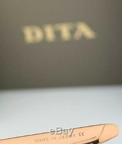 DITA METAMAT Sunglasses DTS526-59-02 Rose Gold Frame Grey To Peach Gradient Lens