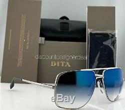 DITA MIDNIGHT SPECIAL Sunglasses Palladium Blue Mirror Lens DRX-2010-K-PLD-60