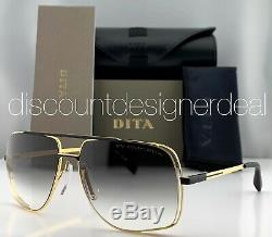 DITA MIDNIGHT SPECIAL Sunglasses Yellow Gold Frame Black Gray Gradient Lens 60