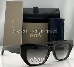 DITA REDEEMER Cateye Sunglasses DTS530-54-01 Black Frame Gray Gradient Lens NEW
