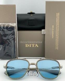 DITA RIKTON TYPE 402 Sunglasses DTS117-02 Pale Gold Blue Chromatic Lens