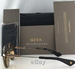 DITA RIKTON TYPE 402 Sunglasses DTS117-54-01 Gold Black Amber Chromatic Lens