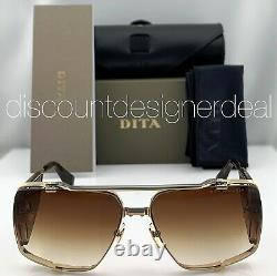 DITA SOULINER TWO Sunglasses Yellow Gold Brown Brown Gradient Lens DTS136-64-02
