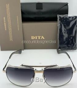 DITA SYMETA TYPE 403 Sunglasses White Gold Palladium Gray Gradient DTS126-62-01