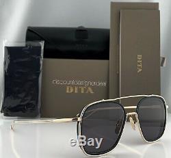 DITA SYSTEM ONE Sunglasses Pale Gold Dark Grey Lenses DTS103-53-02 NEW