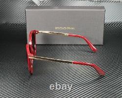 DOLCE & GABBANA DG4268 30918G Bordeaux Grey Gradient 52 mm Women's Sunglasses